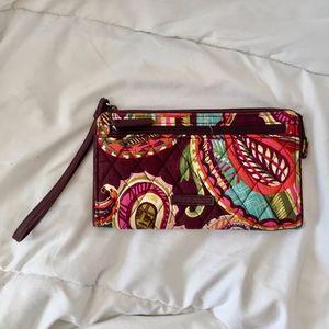 Vera Bradley Autumn Leaves Quilted Wristlet Wallet